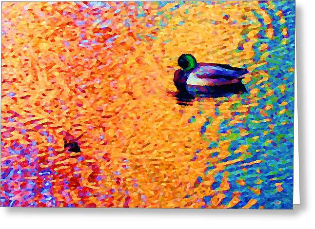Duck A L'orange Greeting Card