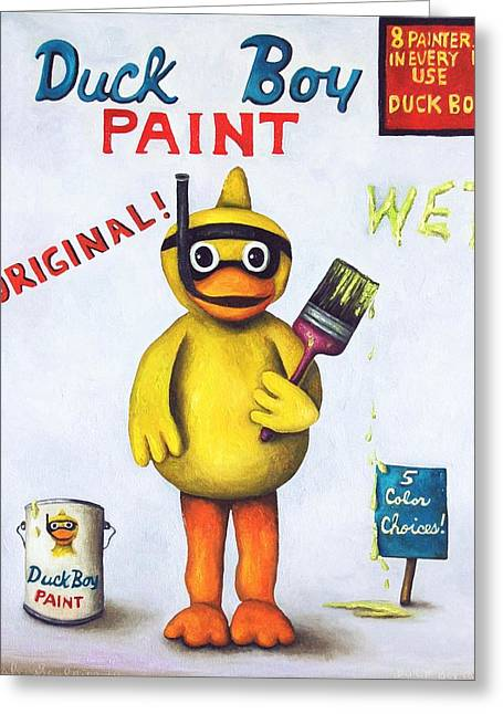 Duck Boy Paint Greeting Card