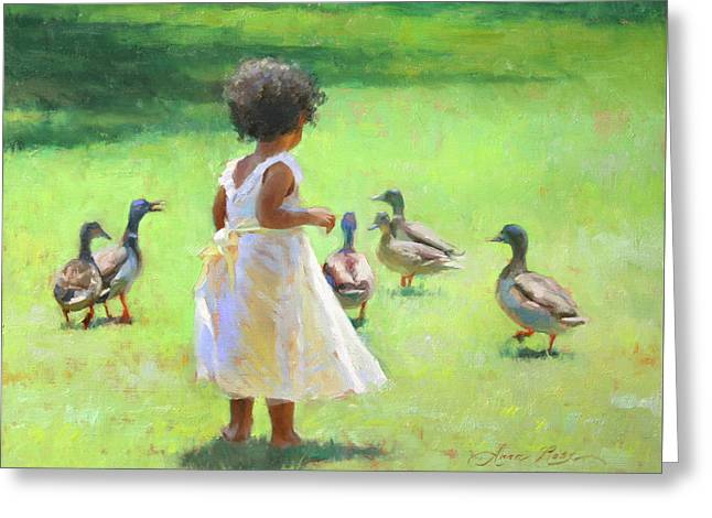 Duck Chase Greeting Card