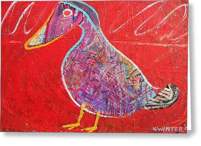Duck Greeting Card by Dave Kwinter