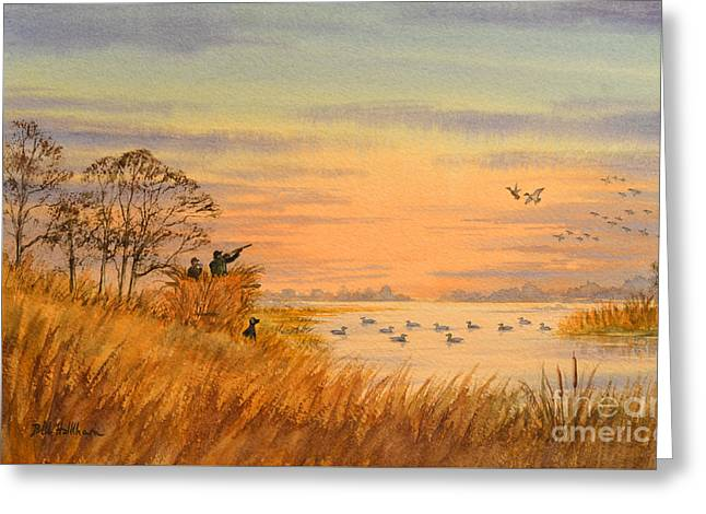 Duck Hunting Calls Greeting Card by Bill Holkham