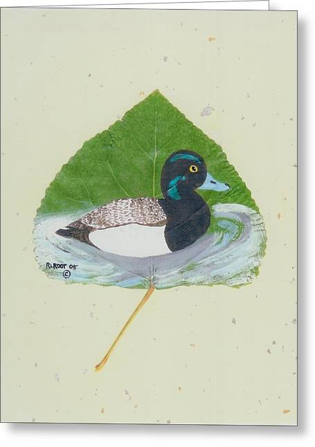 Duck On Pond #2 Greeting Card