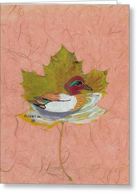 Duck On Pond Greeting Card