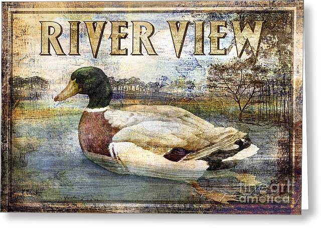 Duck Sign I Greeting Card by Paul Brent