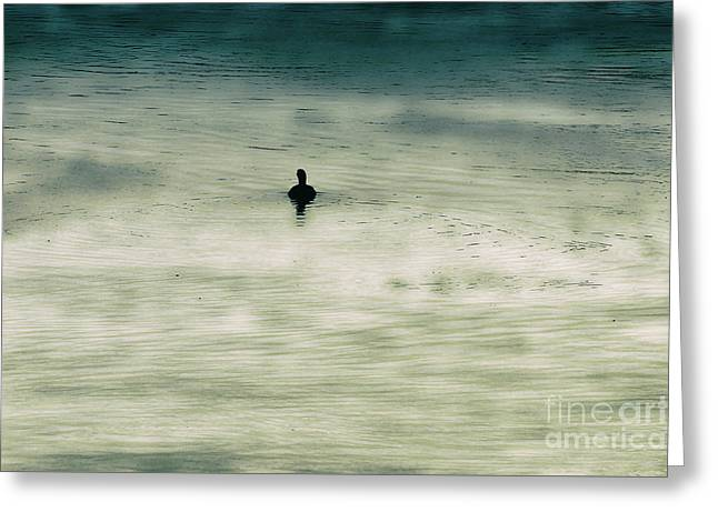 Duck Silhouette Greeting Card by Kim Pate