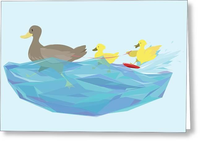 Ducks Greeting Card
