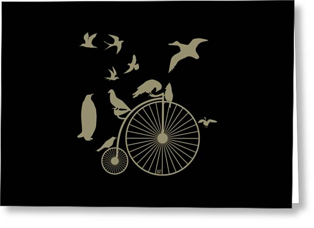 Dude The Birds Are Flocking Tan Transparent Background Greeting Card