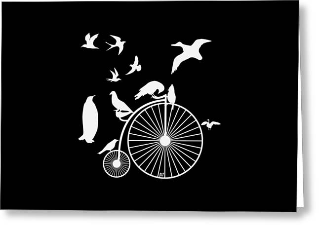Dudes The Birds Are Flocking White Transparent Background Greeting Card