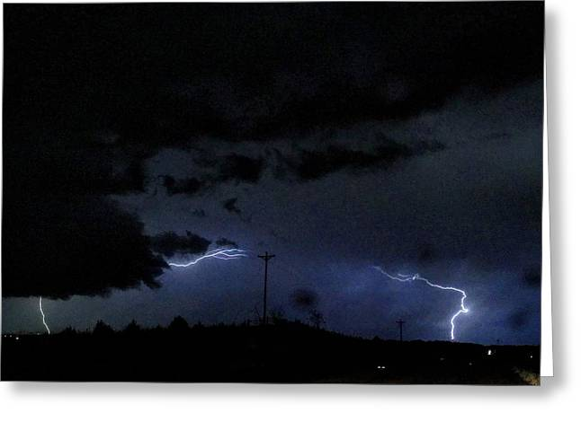 Dueling Lightning Bolts Greeting Card