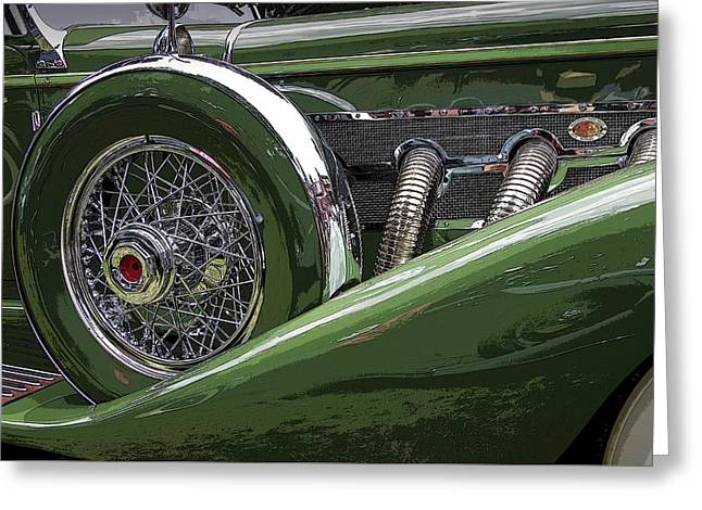 Greeting Card featuring the photograph Duesenberg by Jim Mathis