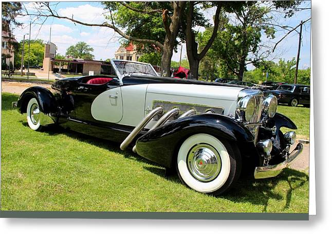 Greeting Card featuring the photograph Duesenberg Vii by Michiale Schneider