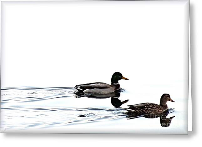 Greeting Card featuring the photograph Duet by Debi Dmytryshyn