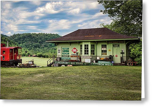 Duffield Depot Greeting Card by Heather Applegate