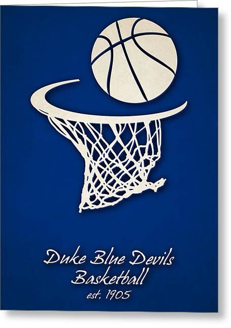 Duke Blue Devils Basketball Greeting Card