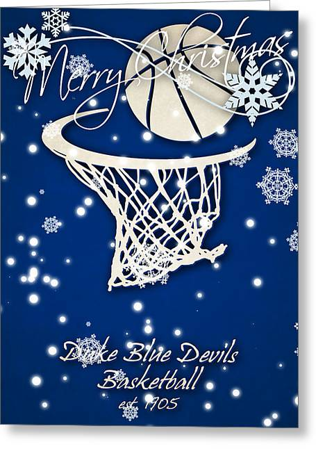 Duke Blue Devils Christmas Card 2 Greeting Card