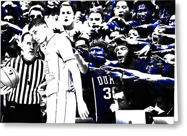 Duke Blue Devils Crazies Greeting Card