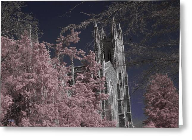 Duke Chapel 2 - Infrared Greeting Card