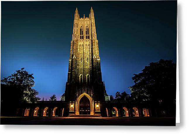 Duke Chapel Lit Up Greeting Card