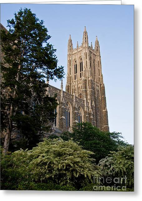 Duke Chapel Side View Greeting Card