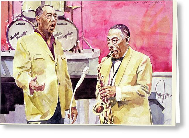 Duke Ellington And Johnny Hodges Greeting Card