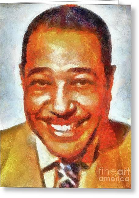 Duke Ellington By Sarah Kirk Greeting Card