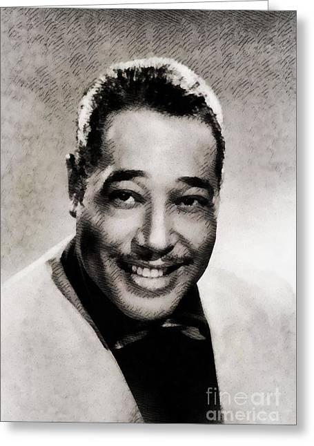 Duke Ellington, Music Legend By John Springfield Greeting Card
