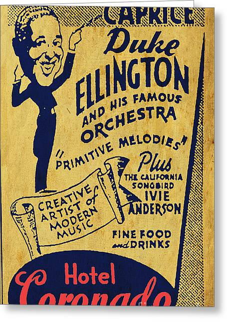 Duke Ellington Old Flyer Greeting Card by Pablo Franchi
