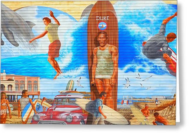 Duke Kahanamoku Mural Ocean City, Nj Greeting Card by James DeFazio