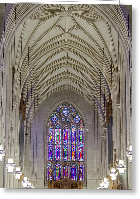Duke University Chapel Stained Glass Greeting Card