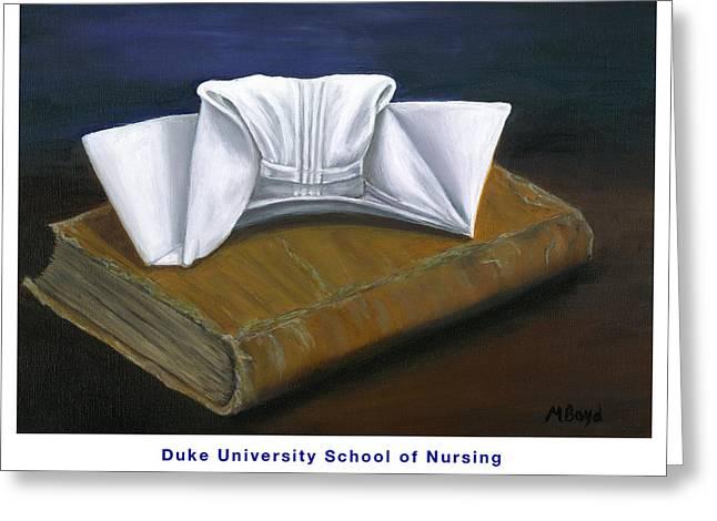 Duke University School Of Nursing Greeting Card by Marlyn Boyd