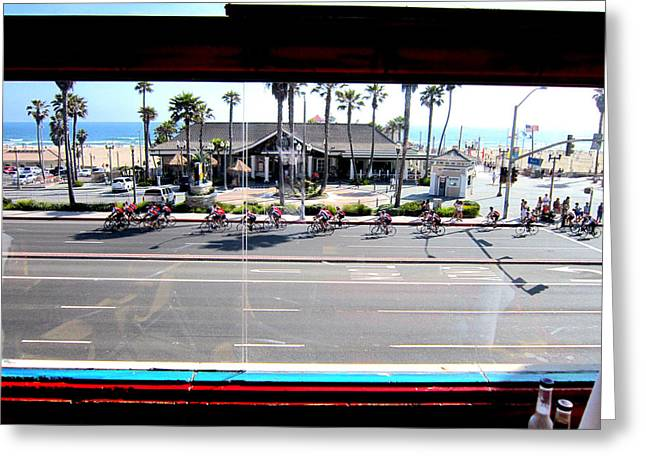 Coast Hwy Ca Greeting Cards - Dukes Huntington Beach Greeting Card by RJ Aguilar