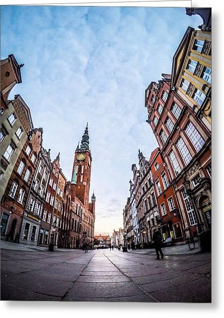 Dulga Street - Gdansk Greeting Card by Michael Dolicke