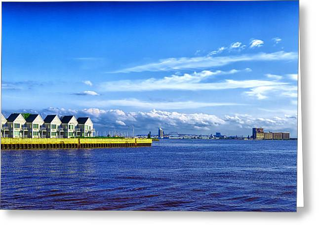 Duluth Minnesota Harbor Greeting Card