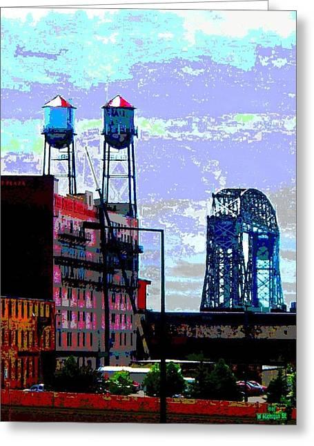Duluth Skyline Greeting Card by Rashelle Brown