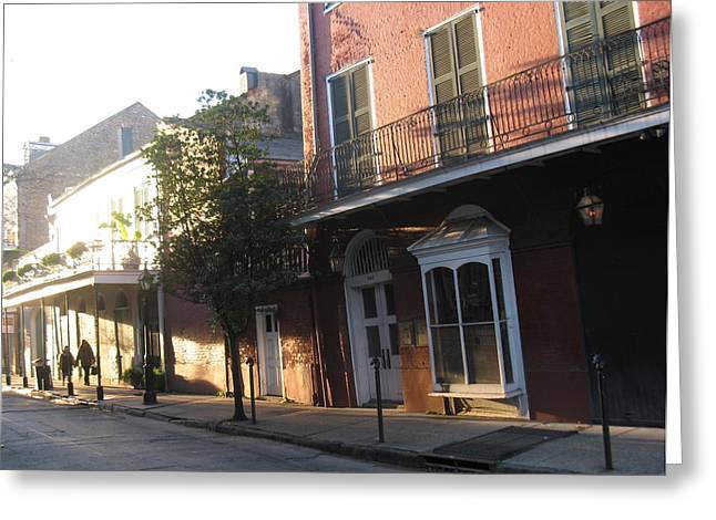 Dumaine Street Morning Greeting Card by Tom Hefko
