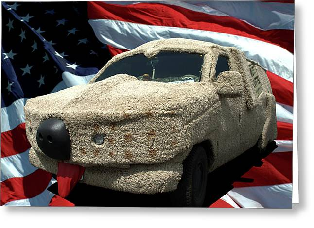 Dumb And Dumber Vehicle Replica Greeting Card by Tim McCullough