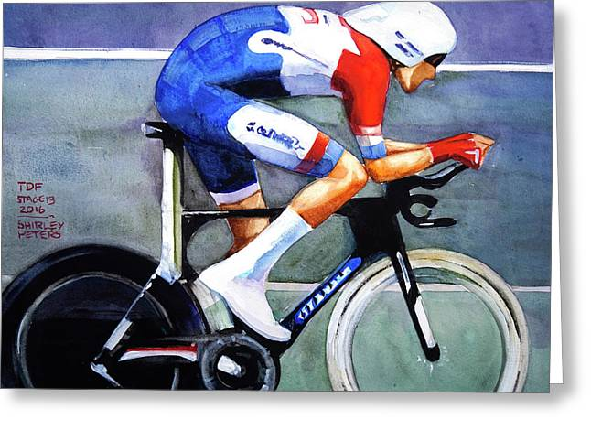 Dumoulin Wins The Time Trial Greeting Card