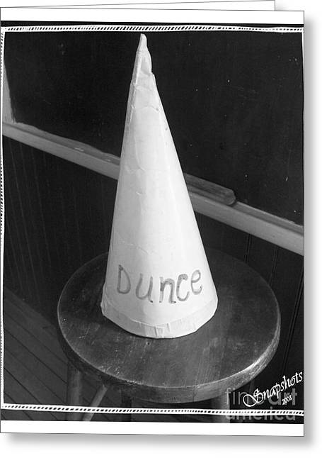 Dunce Cap Greeting Card by Emily Kelley