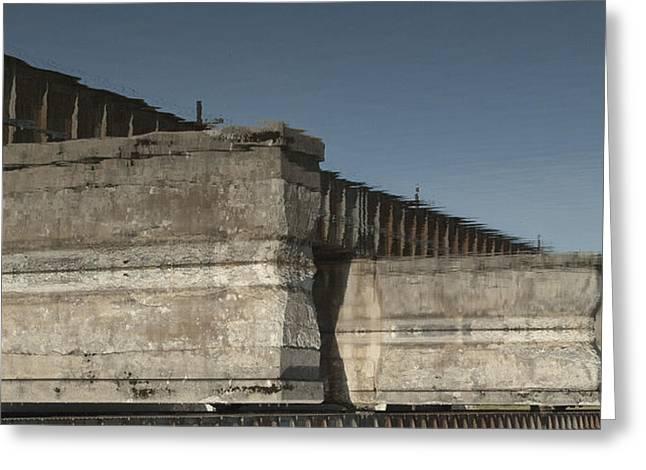 Dundas Railway Bridge Greeting Card by Michael Rutland