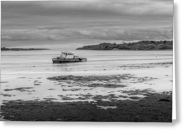 Dundrum The Old Boat Wreck Greeting Card