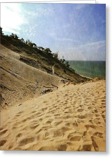 Greeting Card featuring the photograph Dune And Blue Sky 2.0 by Michelle Calkins