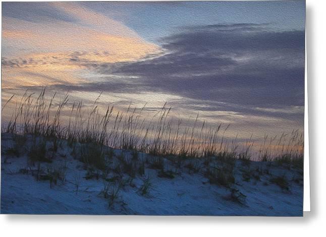 Dune Grass Blue Greeting Card