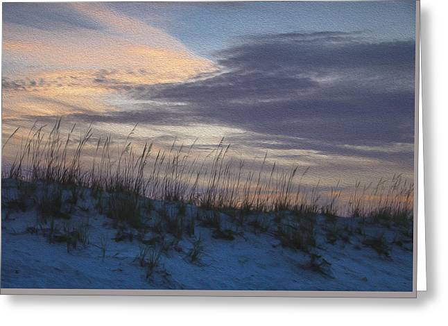 Dune Grass Blue Greeting Card