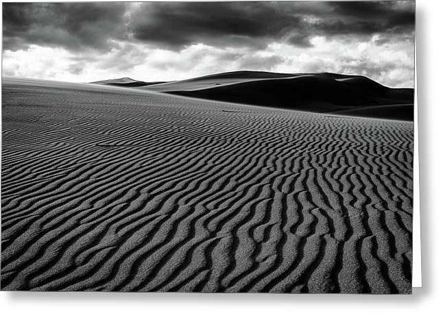 Greeting Card featuring the photograph Dune Lines by Stephen Holst