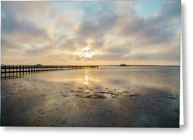 Dunedin Florida Sunset Greeting Card by Bill Cannon