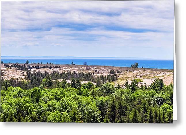 Dunes Along Lake Michigan Greeting Card