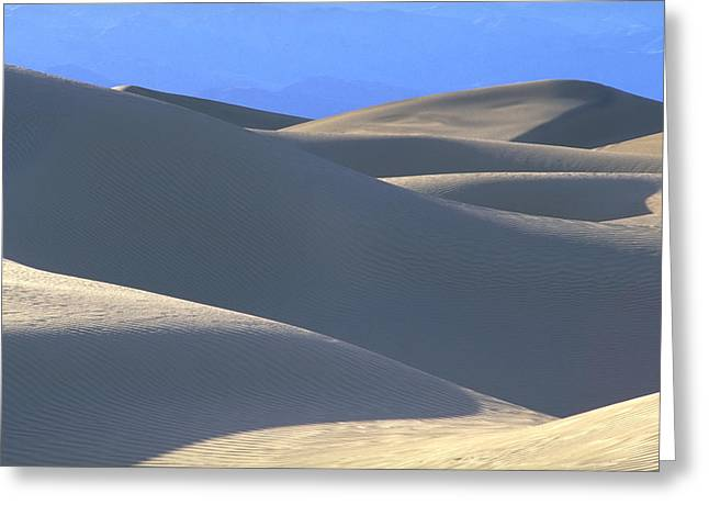Dunes And Blue Mountains Greeting Card
