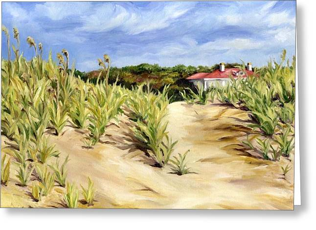Dunes At Seabrook Greeting Card by Cheryl Pass