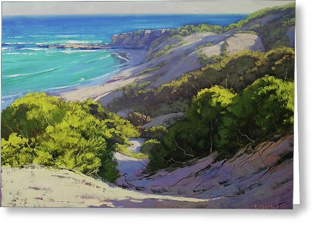 Dunes At Slodiers Beach Greeting Card by Graham Gercken