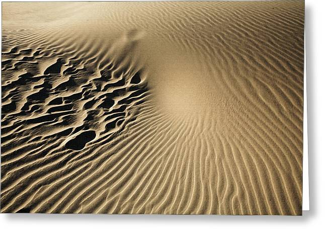Dunes Footprints Greeting Card